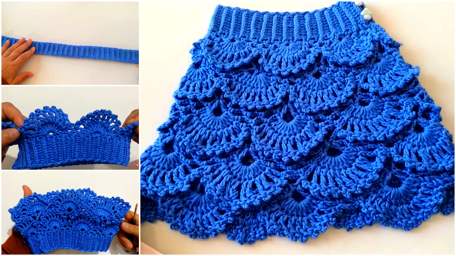 Fácil fabricación de faldas a crochet para niñas
