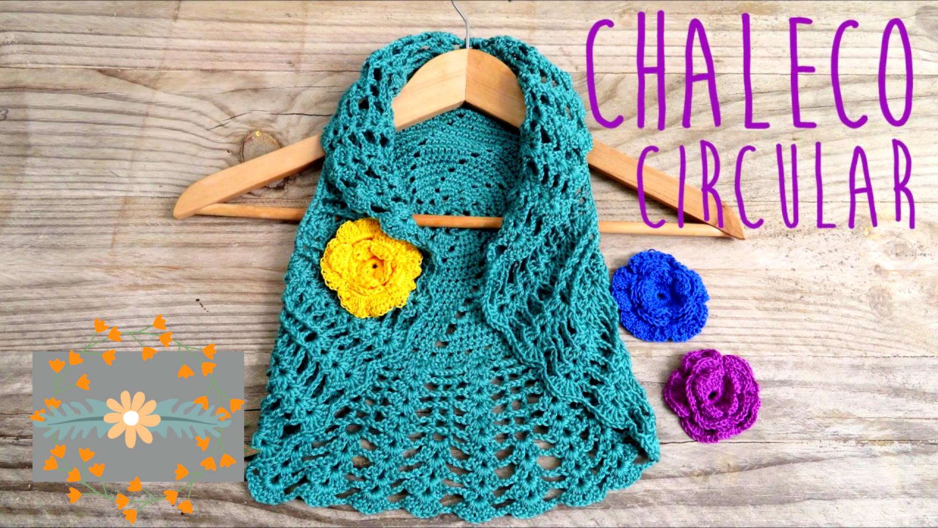 Bolero o chaleco circular a crochet