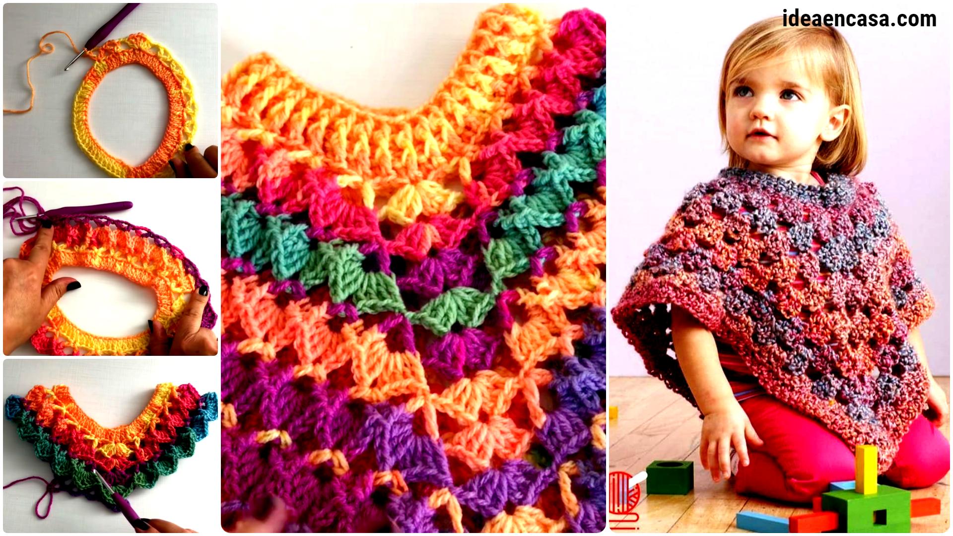 Hermoso Poncho Crochet Batik – Todas las edades