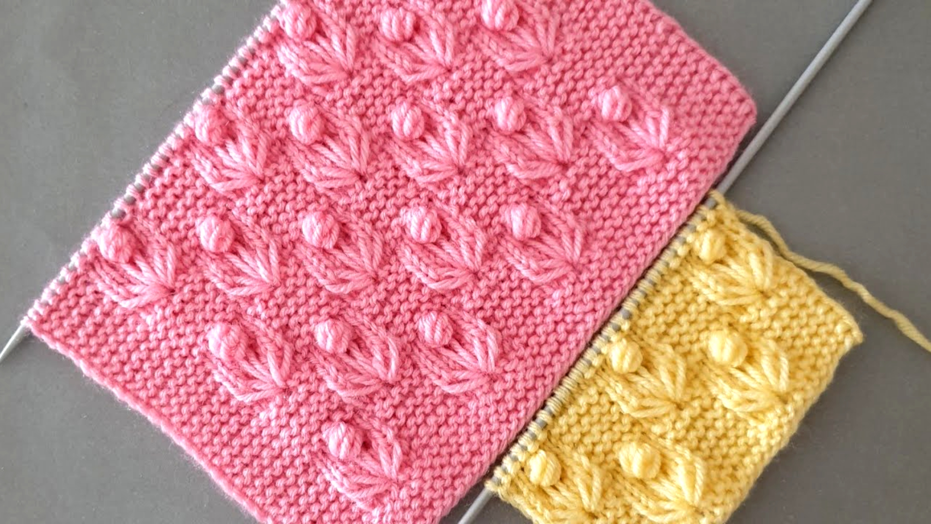 Bello Patrón de tejido de jardín de flores