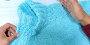 Suéter cuello smoking/ADULTOS y NIÑOS