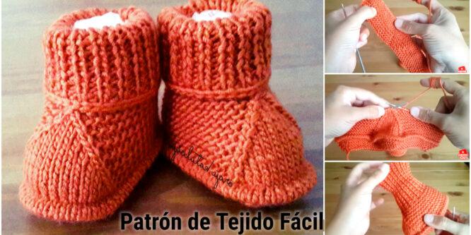 Modelo de botitas de bebé fácil – Patrones de tejido