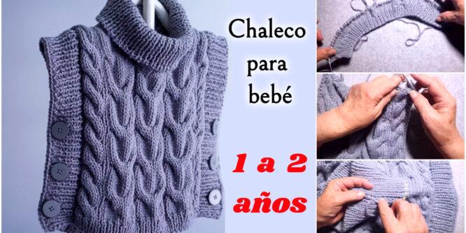 Chaleco para bebé de 1 a 2 años a Crochet