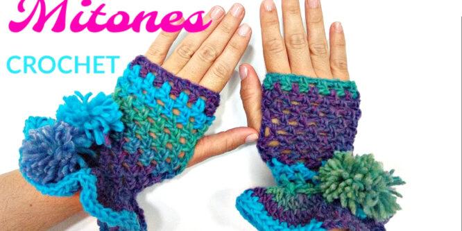Bellos MITONES CON VOLADOS a Crochet
