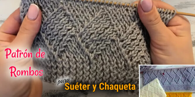 Patrón de «rombos» para un suéter y chaqueta de punto