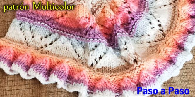 Aprende patrón multicolor a Palillos