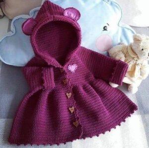 Como tejer abrigo para niñas a Crochet