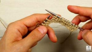 Punto a dos agujas con diseño fácil y original paso a paso