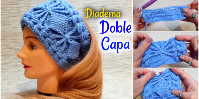 Hermosa Diadema – Patrón de dos capas