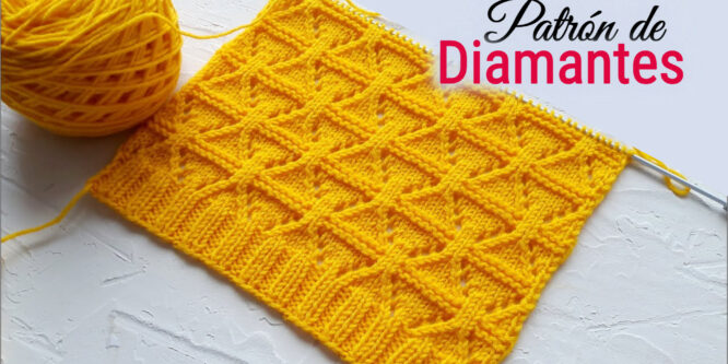 ¡Impresionante tejido con patrón de diamantes!
