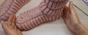Como Tejer pantuflas para el hogar