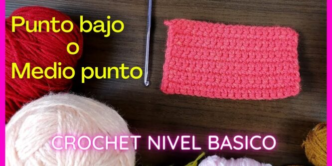 Como tejer el punto bajo o medio punto a crochet