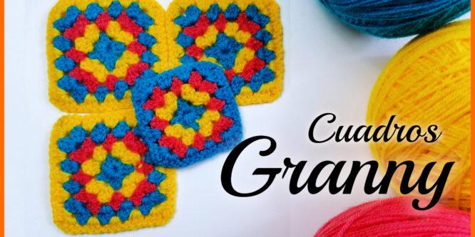 Cuadros granny a Crochet paso a paso