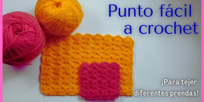 Punto fácil a crochet – Tutorial paso a paso