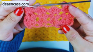 Punto fácil a crochet - Tutorial paso a paso