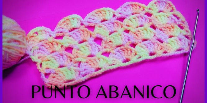 Punto de abanicos a crochet muy fácil